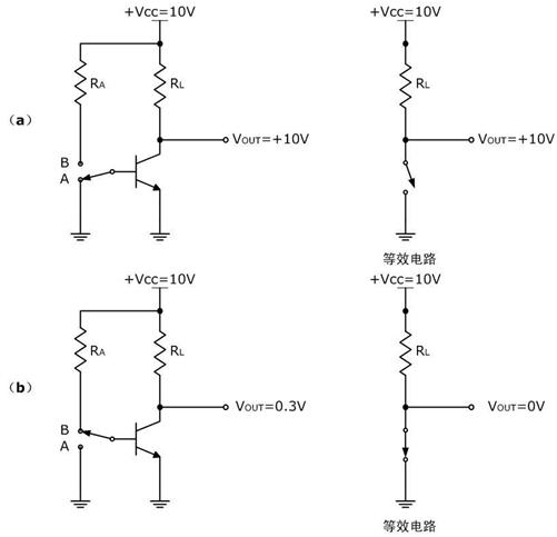 晶体管作为开关等效电路